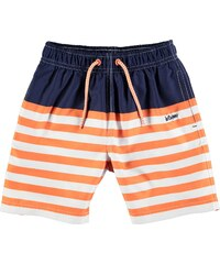 Lee Cooper Striped Swimming Shorts Infant Boys Orange/Navy