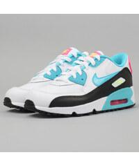 Nike Air Max 90 Mesh (PS) white / gmm bl - pnk blst - ghst grn