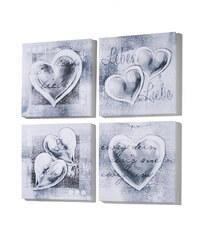 bpc living Set de tableaux Love (Ens. 4 pces.) gris maison - bonprix