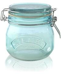 KILNER Skleněná dóza s klipem Blue 500 ml