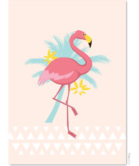 Le Mog Carte Postale - Flamant Rose