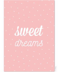 Le Mog Carte Postale Rose - Sweet dreams