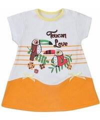 KOALA | Tukan | Dětské letní šatičky Koala Tukan oranžové | Oranžová | 80 (9-12m)