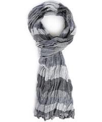 MINIMUM Halstuch mit grauen Streifen