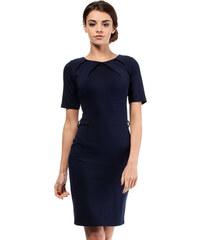 Tmavě modré šaty MOE 013