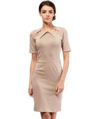 Béžové šaty MOE 013