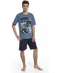 Cornette Chlapecké pyžamo Bridge modrá XS