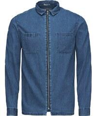 Jack & Jones Reißverschluss-Jeans- Langarmhemd