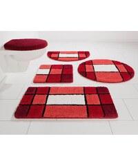 Badematte, Hänge WC-Set, my home, »Pia«, Höhe 20 mm, Microfaser, rutschhemmender Rücken