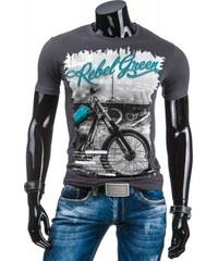 Pánské tričko Rebel Green tmavě šedé - dark šedá
