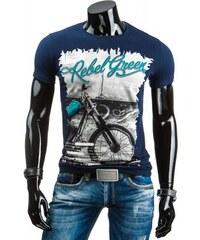 Pánské tričko Rebel green modré - modrá