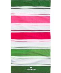 Tom Tailor Strandtuch Stripes mit Farbstreifen grün 1xStrandtuch 85x160 cm