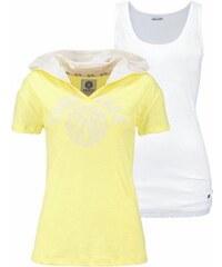 KangaROOS Damen Print-Shirt (Set 2 tlg. mit Top) gelb 32/34 (XS),36/38 (S),40/42 (M),44/46 (L),48/50 (XL)