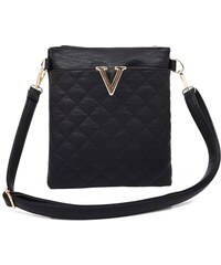 London street fashion Crossbody Quilted Joy - černá