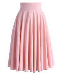CHICWISH Dámská sukně Midi Růžovka Velikost: S
