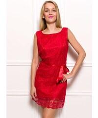 Glamorous by Glam Dámské krajkové šaty červená
