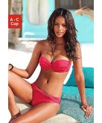 Große Größen: Bügel-Bandeau-Bikini mit 5 Tragevarianten, LASCANA, rot, Gr.32 (65)-40 (80)