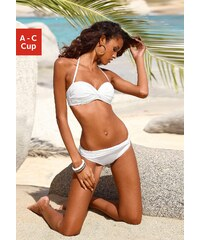 Große Größen: Bügel-Bandeau-Bikini mit 5 Tragevarianten, LASCANA, weiß, Gr.32 (65)-40 (80)