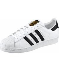 Große Größen: adidas Originals Sneaker »Superstar«, weiß-schwarz-goldfarben, Gr.37-46
