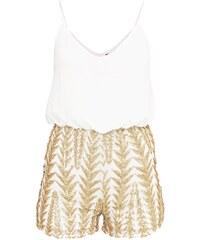TFNC RADANA Jumpsuit white/gold
