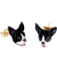 Nach Bijoux Boucles d'Oreilles En Porcelaine - Mini Bulldog