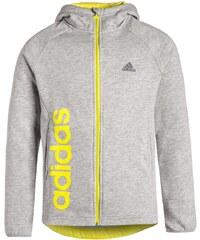 adidas Performance ESSENTIALS Sweatjacke medium grey heather/shock slime