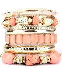 Bracelets Multiples Rose OYS Pierres, - Cendriyon