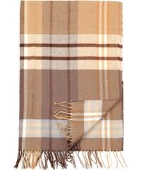 Willsoor Dámská šála (vzor 131) 5684 v hnědé barvě