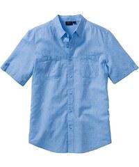 bpc bonprix collection Lněná košile s krátkým rukávem Regular Fit bonprix