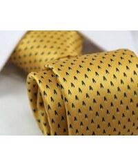 Žlutá pánská kravata se vzorem