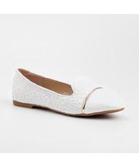 TOP SHOES Luxusní bílé krajkové lordsy