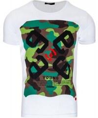 Pánské tričko Agumon bílé - bílá