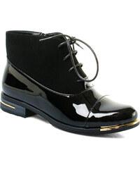 Ctogo GOGO Lesklé šněrovací boty 6729-1B
