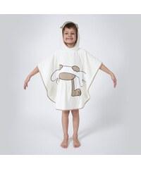 Ifilhome Zanimo - Poncho de bain - ecru