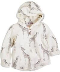 Lindex Dětská košile s kapucí Žirafa - krémová