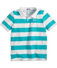 Lindex Chlapecké pruhované polo tričko - tyrkysovo-bílé