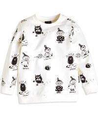 Lindex Dětská mikina s potiskem Moomin - bílá