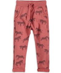 Lindex Dívčí tepláky s potiskem zebry - červená