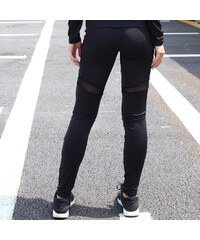 Lesara Fitness-Leggins mit Cut-Outs - Schwarz - XL