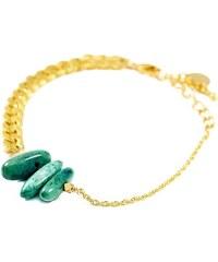 Azucar Bracelet En Maille Et Perles Vertes - Philippe