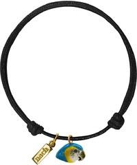 Nach Bijoux Bracelet Noir En Corde & Porcelaine - Perroquet Bleu