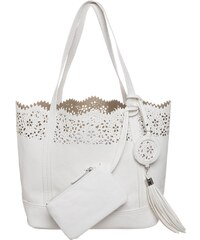 Anna Field Shopping Bag white
