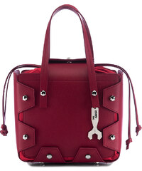 Červená kožená kabelka Hymy bag