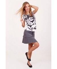 SAM 73 Dámská strečová sukně SKWS16_08 gray - šedá