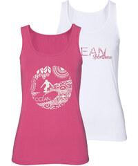 OCEAN SPORTSWEAR Top Ocean Sportswear, 2 ks bílá/růžová - Normální délka (N)