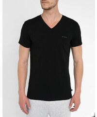 DIESEL Doppelpack schwarze T-Shirts mit V-Ausschnitt Mickael
