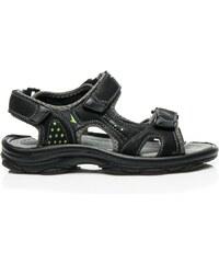 HAKER Černé sandály