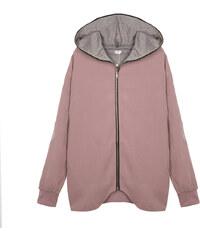 Lesara Jersey-Jacke im Oversize-Design - Rosa - S