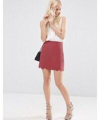 ASOS - Mini jupe trapèze à ourlet festonné - Violet