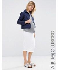 ASOS Maternity ASOS Maternité - Jupe fourreau mi-longue en jersey - Blanc